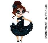 girl dancer on carnival cartoon ... | Shutterstock .eps vector #326914838