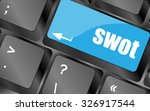 swot word on computer keyboard... | Shutterstock .eps vector #326917544
