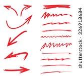 sketch underlines and arrows | Shutterstock .eps vector #326918684