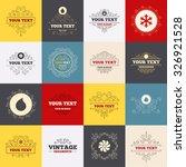 vintage frames  labels. hvac... | Shutterstock .eps vector #326921528