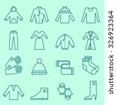 clothing icons  thin line design   Shutterstock .eps vector #326923364