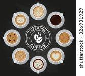 premium coffee cups  americano  ... | Shutterstock .eps vector #326931929