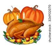 Thanksgiving Turkey On Platter...