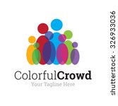 colorful crowd logo | Shutterstock .eps vector #326933036