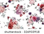 seamless floral pattern with... | Shutterstock . vector #326933918