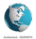 3d generated globe. america... | Shutterstock . vector #326940374