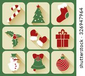 set of flat christmas icons   Shutterstock .eps vector #326947964