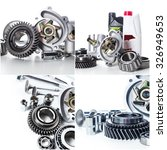 car parts collage | Shutterstock . vector #326949653