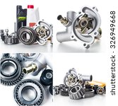 car parts collage | Shutterstock . vector #326949668