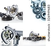 car parts collage | Shutterstock . vector #326949683