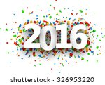 2016 new year sign with... | Shutterstock .eps vector #326953220