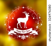 christmas card with blurred... | Shutterstock .eps vector #326976380