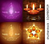 vector set of diwali background ... | Shutterstock .eps vector #326980919