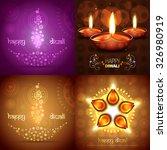vector set of diwali background ... | Shutterstock .eps vector #326980919