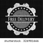 free delivery on blackboard | Shutterstock .eps vector #326981666