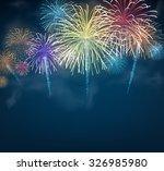 festive colour firework... | Shutterstock .eps vector #326985980