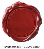 red wax seal or signet isolated  | Shutterstock . vector #326986880