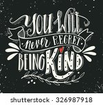 you will never regret being... | Shutterstock .eps vector #326987918
