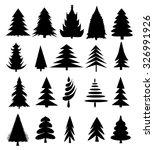 christmas trees vector...   Shutterstock .eps vector #326991926