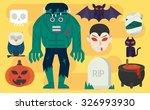 vector cartoon illustration... | Shutterstock .eps vector #326993930