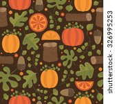 seamless autumn themed pattern... | Shutterstock .eps vector #326995253