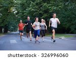 people group jogging  runners... | Shutterstock . vector #326996060