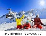 ski  winter  snow   family... | Shutterstock . vector #327003770