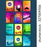 template. set of poster  flyer  ... | Shutterstock .eps vector #327009506