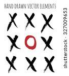 set of hand drawn cross. hand... | Shutterstock .eps vector #327009653