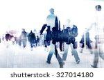 business people walking... | Shutterstock . vector #327014180