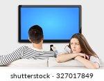 watching tv. | Shutterstock . vector #327017849