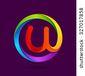U Letter Colorful Logo In The...