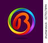 b letter colorful logo in the... | Shutterstock .eps vector #327017894