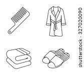 toiletries outlines vector icons   Shutterstock .eps vector #327020090