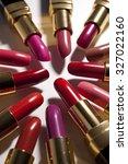 lipsticks closeup | Shutterstock . vector #327022160