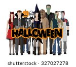 people icon in flat style... | Shutterstock .eps vector #327027278