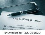 last will and testament... | Shutterstock . vector #327031520