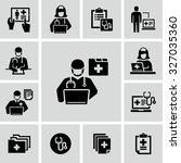 patient medical record vector... | Shutterstock .eps vector #327035360