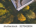 standing on the edge of high... | Shutterstock . vector #327042854