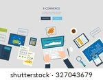 flat design illustration... | Shutterstock .eps vector #327043679