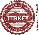 vintage turkey country stamp | Shutterstock .eps vector #327044828