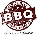 premium bbq vintage meat stamp | Shutterstock .eps vector #327044840