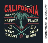 52 california happy place.... | Shutterstock .eps vector #327050399