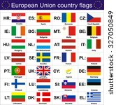european union country flags  ... | Shutterstock .eps vector #327050849