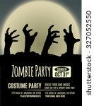 halloween party invitation with ... | Shutterstock .eps vector #327052550
