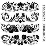 Black Vector Floral Elements ...