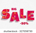 hot big sale doodle background | Shutterstock .eps vector #327058730