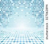 blue dot empty perspective... | Shutterstock . vector #327062894