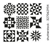 collection of geometric patterns | Shutterstock .eps vector #327062954