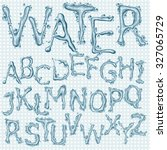 water splash headline letters  | Shutterstock .eps vector #327065729